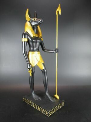 Anubis God of the Dead, 16 1/8in Polyresin Figurine,Museum Collection,New