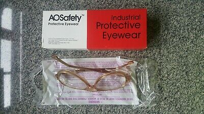 10 pair of Vintage A.O. safety glasses Plastic lenses Side Shields U.S.A.