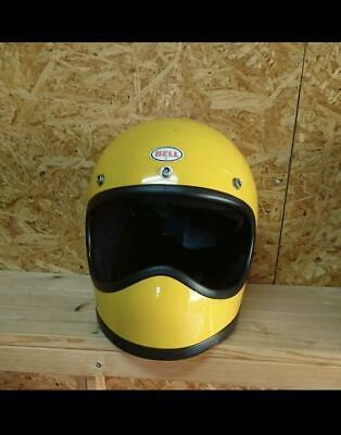 Bell Moto Star Vintage Helmet Size M Yellow Motorcycle Collectible F/S From Jpn