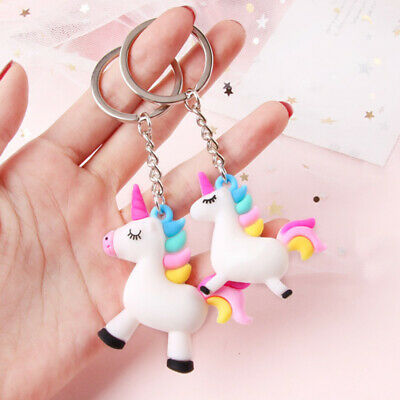 Unicorn Key Chain Key Ring Bag Hanging Pendant Cute Kid Girls Gift Acces