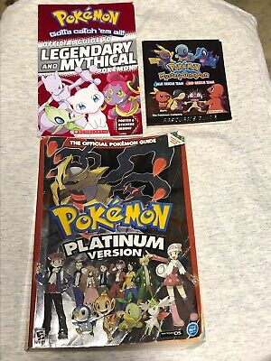 Lot Of 3 Pokemon Platinum Version Official Pokemon Guide Nintendo DS~ No Poster