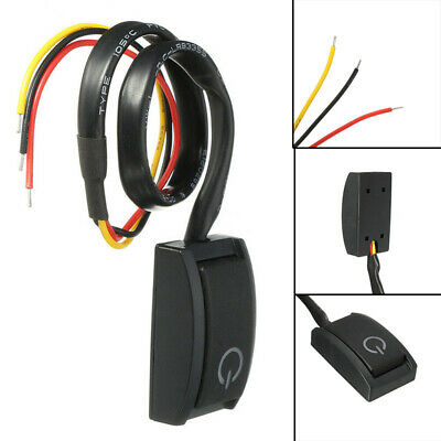 DC12V 200mA Car/RV Push Button Switch Latching Turn ON/OFF Switch With LED Light