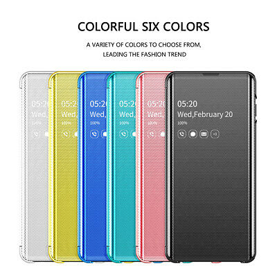 For Samsung Galaxy Note 8 Note 9 Smart View Mirror Flip Leather Case Cover