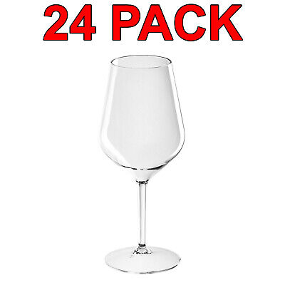 Eco-Friendly Reusable Plastic Tritan Wine Glass Glasses Catering 510ml 24 Pack