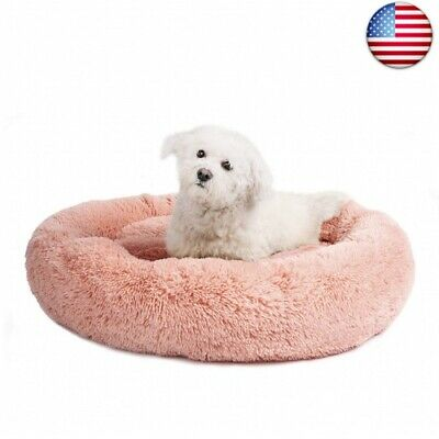 Veehoo Self-Warming Round Dog Bed for Small and Medium Dogs &   (Medium, Pink)