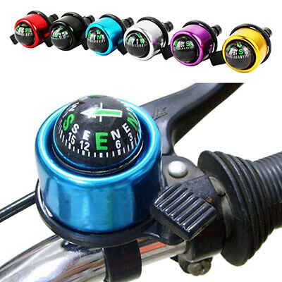 AU_ Outdoor Cycling Alarm Warning Ring-down Horn Bike Bicycle Bell with Compass