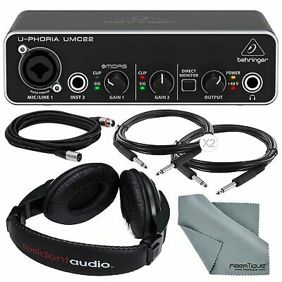Photo Savings Behringer U-PHORIA UMC22 2in2out USB Audio Interface and Access...