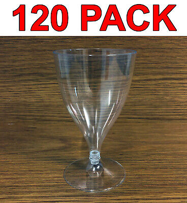 Eco-Friendly Reusable Plastic Wine Glass Water Glasses Catering 200ml 120Pc