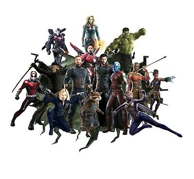 Avengers Wall Decal 3D Art Stickers Vinyl Room Bedroom Mural Kids Nursery Gift