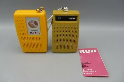 Lot 2 Vintage Transistor Radios / RCA RZG 102N & Solid State Nobility -  *Read*