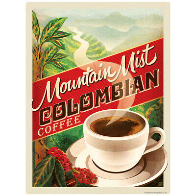 Colombian Coffee Mountain Mist Decal 26 x 34 Peel and Stick Decor