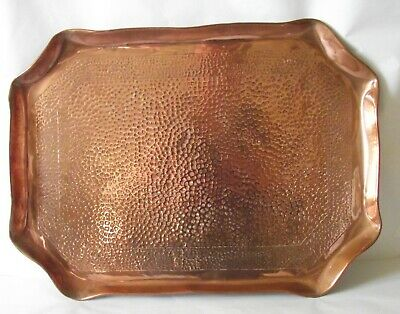 Eustace Brothers Cornwall Arts & Crafts Copper Tray Antique Hayle Newlyn School