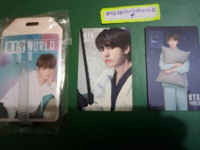 Bts World Ost -Official Name Tag + Photocard + Game Coupon (Unused) Jungkook