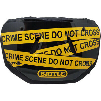 Battle Sports Science Crime Scene Adult Chrome Football Back Plate