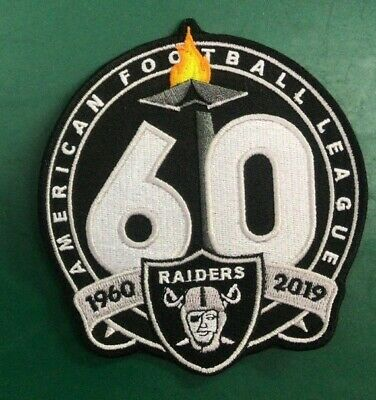 """(2) 🔥4"""" RAIDERS 60th Anniversary Iron-on Jersey PATCH!"""