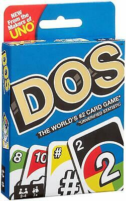 Dos Card Game From The Makers Of Uno Mattel New Sealed Pack From UK Multicolors