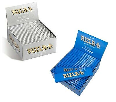 Rizla Blue  Slim / Silver Slim King Size Rolling Papers 10,20,30 & 50 Booklets
