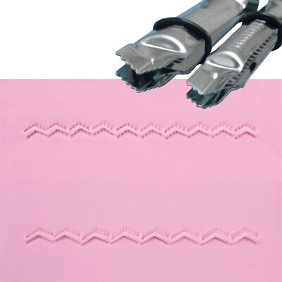 PME CLOSED VEE SERRATED Metal Crimper Embosser for Sugarcraft Cake Decorating