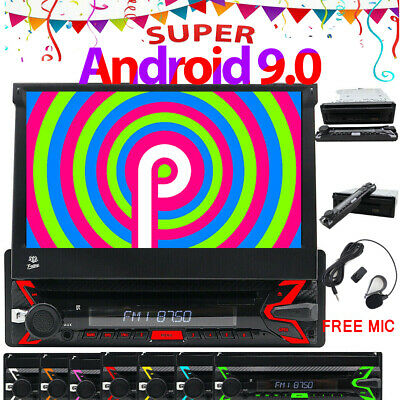 DSP 1DIN ANDROID 9 0 Car Stereo Radio Adjustable Screen GPS Navi