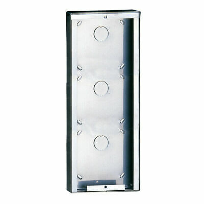 Comelit 3316/3 Powercom Case Wall Stainless Steel 3 Modules