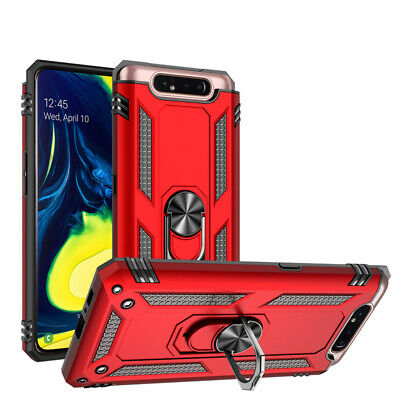 For Samsung Galaxy A80/A90 Rugged Armor Shockproof Cover Case with Ring Holder
