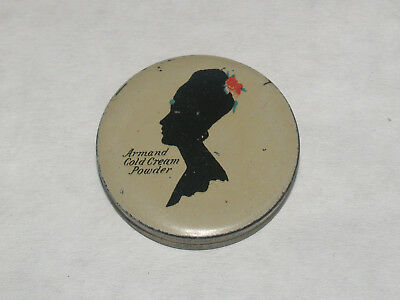 Antique Advertising Art Deco Sample Face Powder Tin Armand Cold Cream Powder
