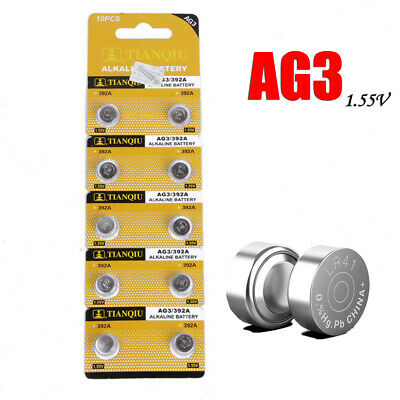 10 x LR41 (192/AG3/392) Battery 1.5V Alkaline Button Cell Batteries For Watch