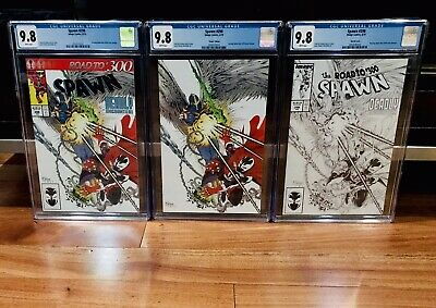 Cgc 9.8 Spawn #298 3X Virgin Trade B&W Sketch Road To 300 (3 Cgc Set) Image Nm
