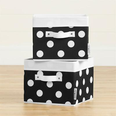 South Shore Storit Canvas Baskets 2Pack in Dots