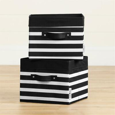 South Shore Storit Canvas Baskets 2Pack in Stripes