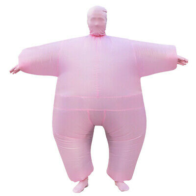 Sumo Inflatable Wrestler Fancy Dress Halloween Costume for Adult Blowup Fat Suit