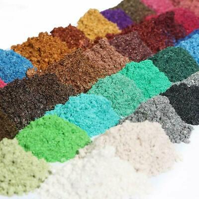 Multicolor 50g Metallic Effect Natural Mica Pigment Powder Value Pack 5g/packet