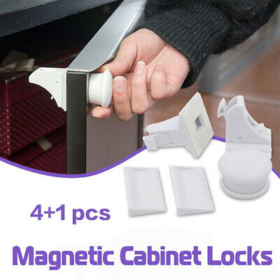 Magnetic Invisible Safety Cupboard Lock Baby Child Pet Proof Drawer Security
