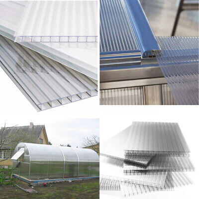 Greenhouse Polycarbonate 4mm Sheet Panels Cold Frame Cultivation Glazing Roofing