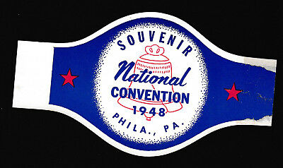 Democratic National Convention 1948 Philadelphia Souvenir wrap band