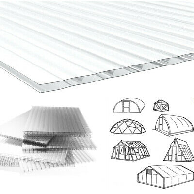 6 x 4mm Solid Glazing Clear Polycarbonate Sheet Greenhouse Replace Panels Cover