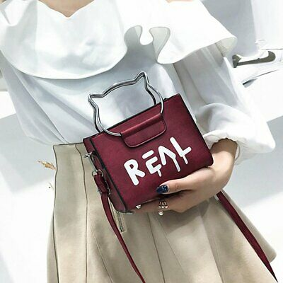 Small bag Small square bag Female Student portable Letter printing Purse HP