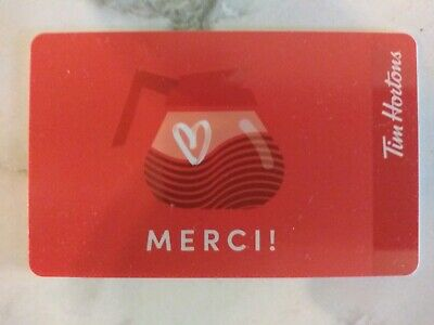 Collectable Tim Hortons Merci Coffee Pot Gift Card #Fd65953 ..No Monatary Value