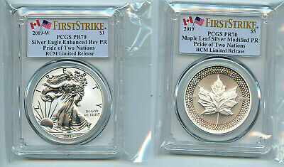2019 RCM Pride of Two Nations 2 Coin Set PCGS PR70 First Strike