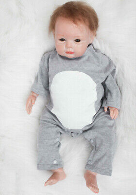22in Reborn Baby Dolls Cute Face Newborn Toddler Realistic Kids Gift