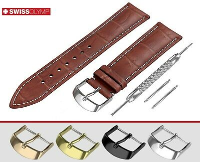 Fits EMPORIO ARMANI Brown Genuine Leather Watch Strap Band For Buckle Clasp Pins