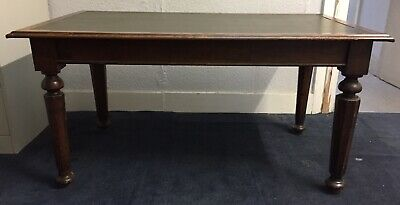 Antique Victorian Narrow Hall Table With 2 Drawers & Turned Legs
