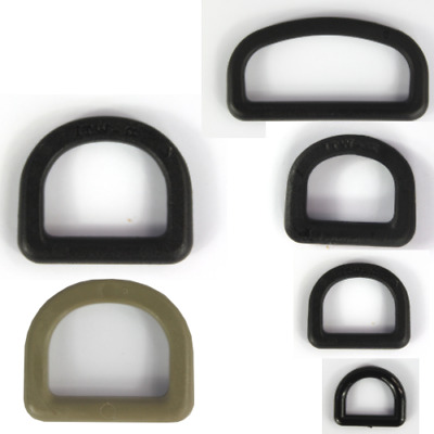 D-Rings Dees Buckles Black Tan Plastic Loops Rucksacks Replacement All Sizes