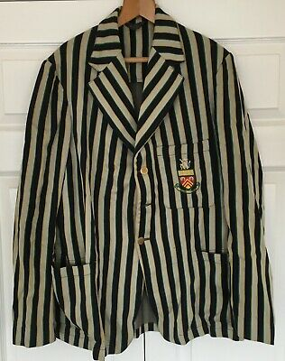 Vintage 1930's Striped Vintage College Club Blazer Gloucestershire by W A Woof