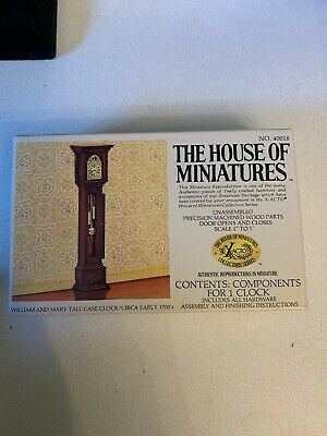 The House of Miniatures William And Mary Tall Case Clock 1700sNo. 40018