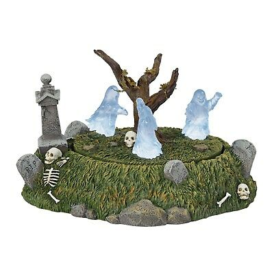 Graveyard Ghost Dance revolving & Lit figurine Dept 56 Halloween Village New