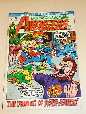 Avengers #98 Vf (8.0) Marvel Comics Barry Smith April 1972**