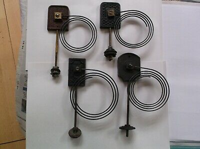 4  CLOCK GONGS FROM  OLD  MANTLE CLOCKS  ref V1