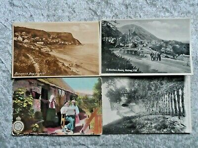 8 Vintage Isle Of Wight Postcards Posted 1905.
