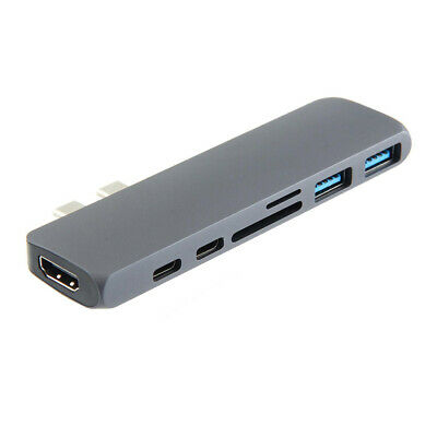 USB 3.1 Dual Type-C HDMI 4K Card Reader USB 3.0 Hub Adapter for MacBook Pro 2